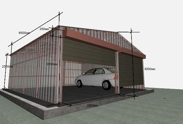 Сроительство металлического гаража своими руками