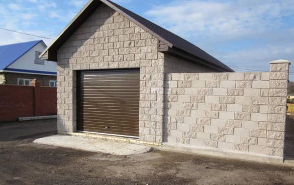 Фото гаража из керамзитобетонных блоков