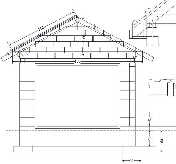 Схема постройки гаража из пеноблоков