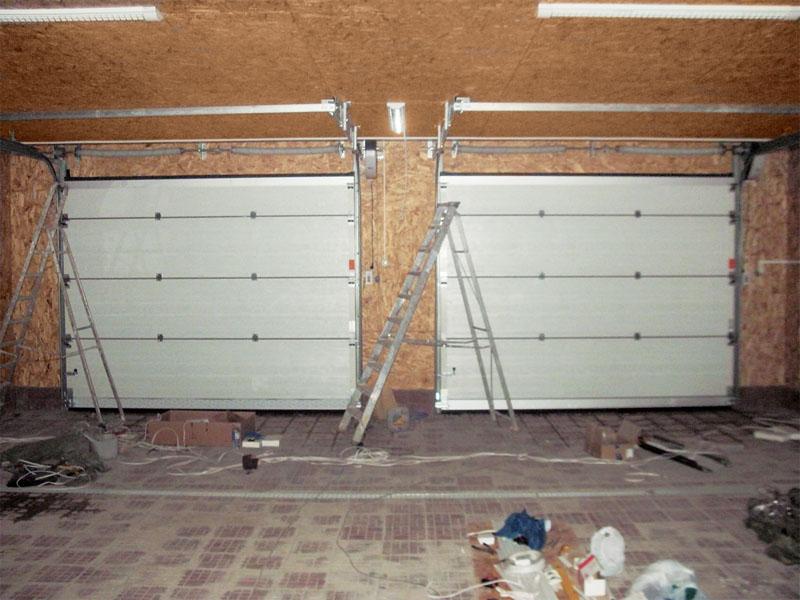 Фото ворот каркасного гаража