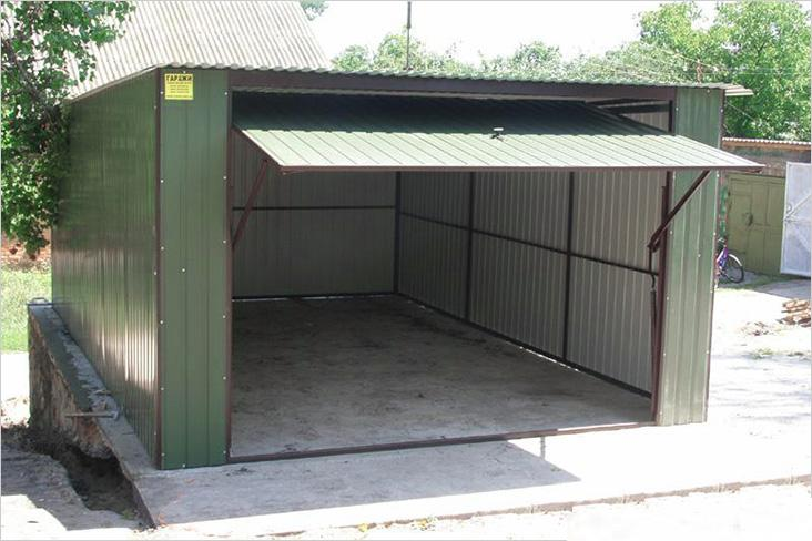 Фото гаража с подъемными воротами