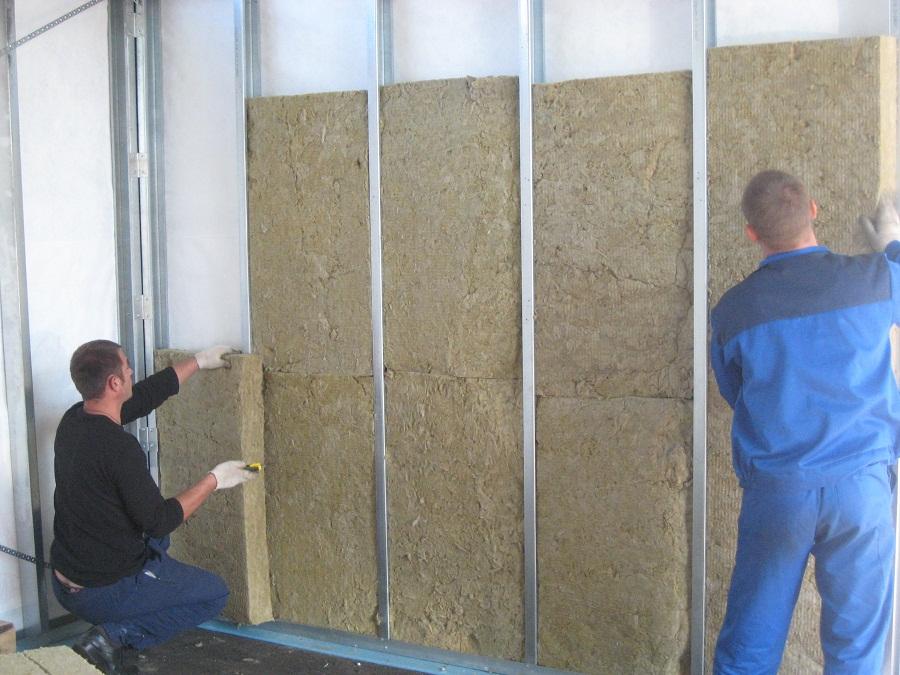 Утепление стен гаража минеральной ватой