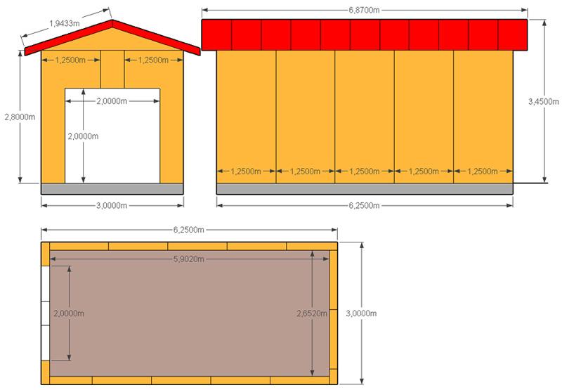 План-схема постройки гаража