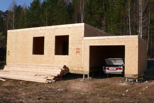 Дом и гараж из сип панелей