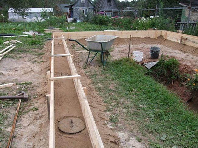 Возведение фундамента для гаража из шлакоблоков