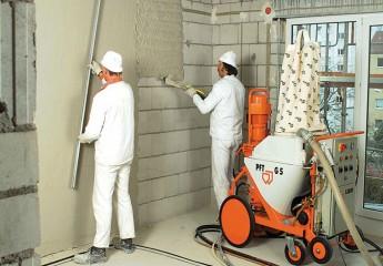 Механическая штукатурка – идеально гладкие стены
