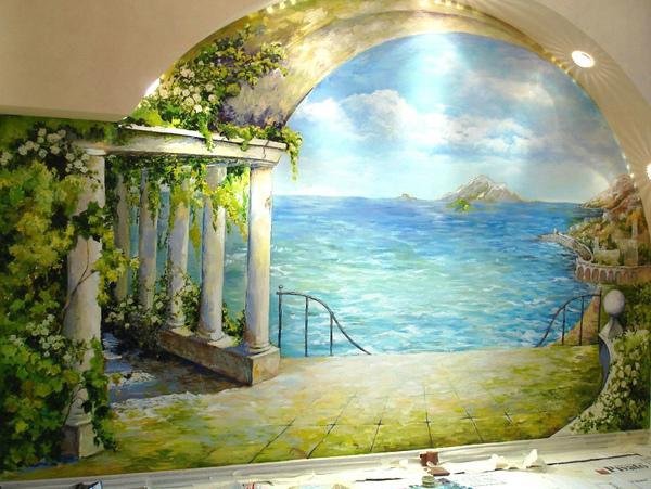 Художественная роспись в комнате