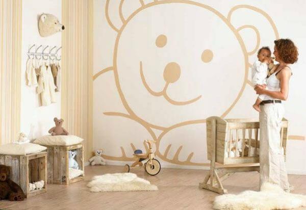 Простой и симпатичный декор в детской комнате