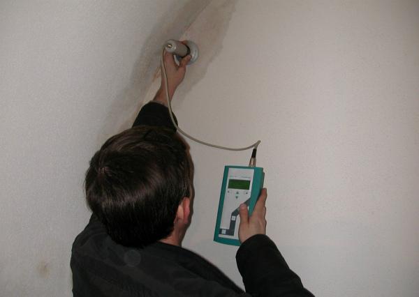 Инструментальное определение места промерзания стены