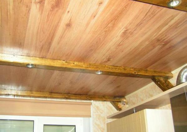МДФ панели в обивке потолка