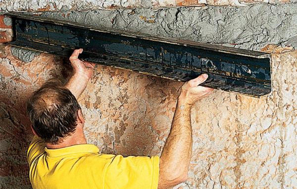Установка швеллера на цементный раствор
