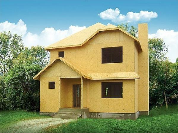 Построенный дом из ОСБ готов к отделочным работам