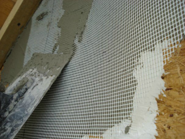 Штукатурка панелей ОСБ снаружи дома