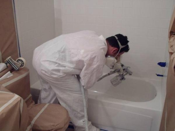 Покрытие ванны с помощью краски-аэрозоля