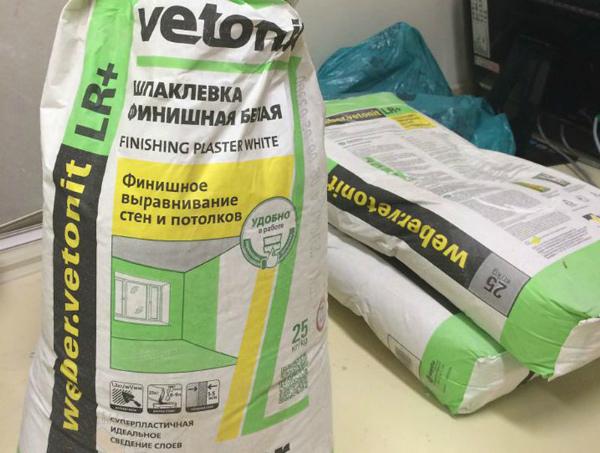 Шпатлевка Vetonit для финишного выравнивания поверхностей