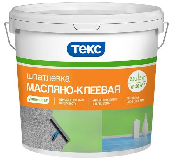 Пластиковое ведро с масляно-клеевой пастой