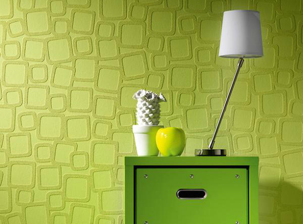 Бумажные полотна, окрашенные в зеленый цвет