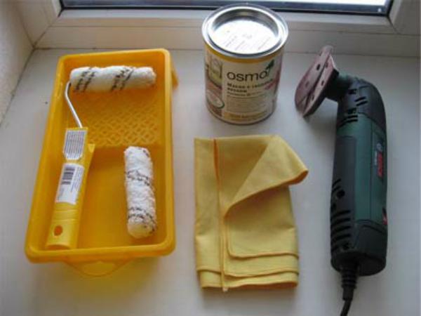 Инвентарь и материалы для ремонта мебели