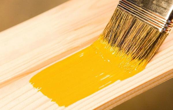 Покрытие деревянной вагонки краской