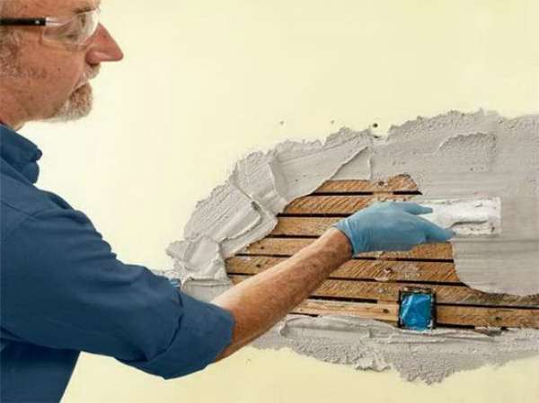 Реставрация штукатурки деревянного фасада