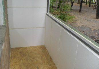 Технология утепления балкона пенопластом