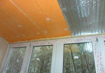 Как утеплить потолок на балконе и лоджии своими руками
