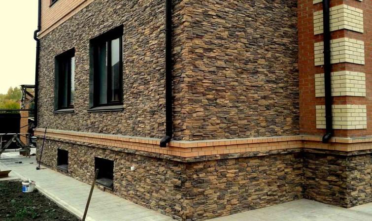 Облицовка дома декоративным камнем