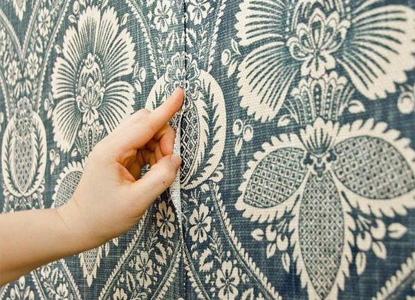 Драпировка стен тканью