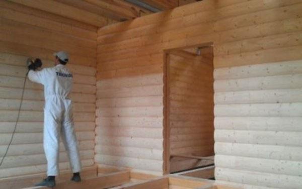 Шлифовка деревянных стен перед покраской