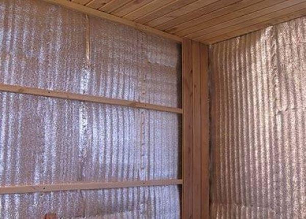 Отражающая теплоизоляция для гаража