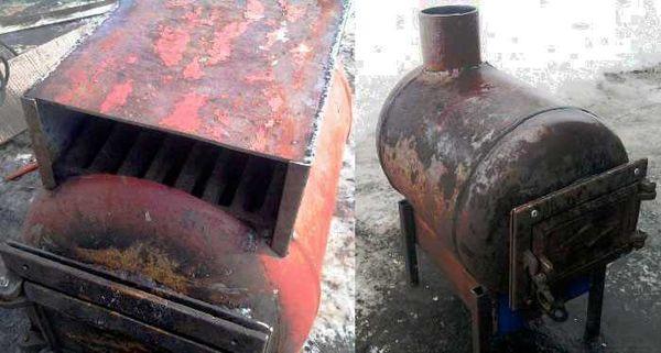 Печь-буржуйка из газового баллона