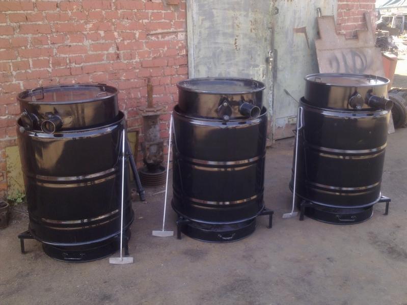 Самодельные отопительные агрегаты из металлических бочек