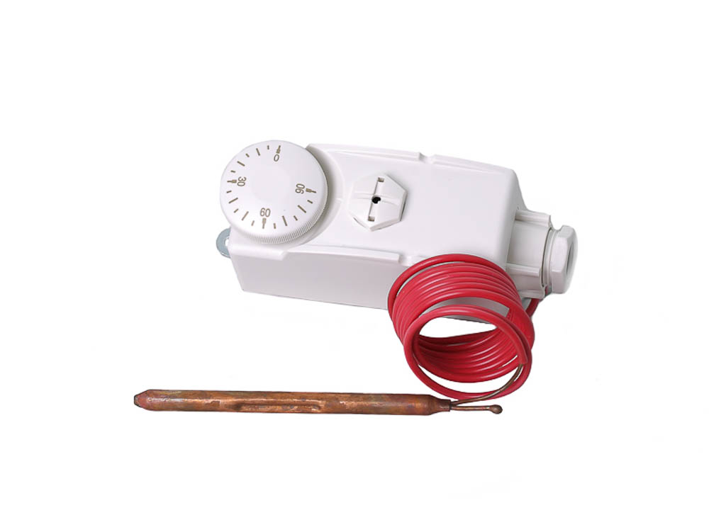 Механический термостат с жидкостью в качестве реагирующего материала